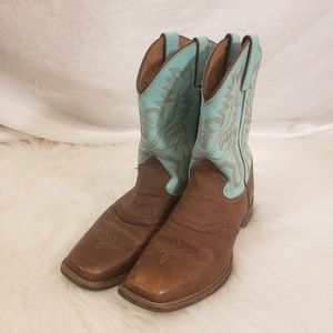 Justin Roper Leather Cowgirl Boots